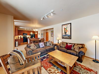 Photo for 2BR Ground-Floor w/ Granite Kitchen, Pool, & Hot Tub - Shuttle to Slopes