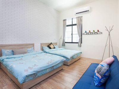 Photo for Double room 30sec to MRT station, Ruifang Night Market, Love River 1B