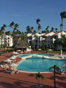 Pool side view with ocean breezes
