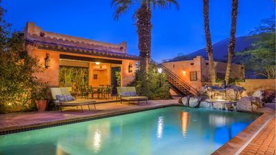 Photo for Mexican Hacienda! Saltwater Pool, Hot Tub, Cabana & Roof Deck, Sprawling Grounds