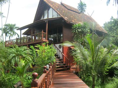 Photo for 4 Bedroom Beach Side Thai Style Wooden Villa
