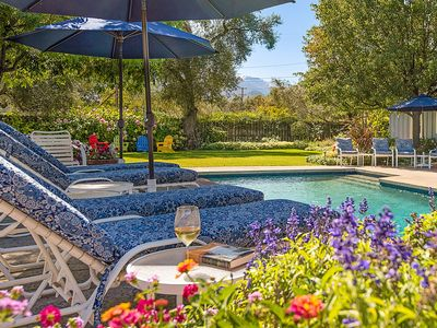 Photo for Wine Country Oasis. Pool, hot tub, vineyard views, walk to Downtown St. Helena