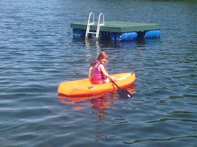 My Grand Daughter says everyone is welcome to use her new Kayak!