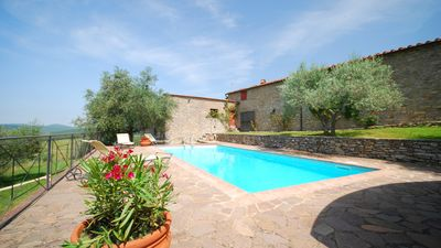 Photo for Holiday home with private pool, private garden, Chianti Classico, Siena