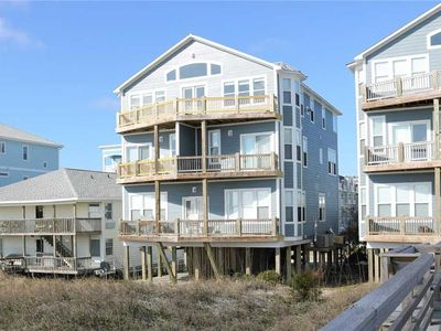 Photo for Shore Beats Working: A 3 Bedroom Oceanfront Condo with a Convenient Elevator