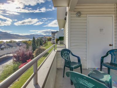 Photo for Second-floor condo w/shared pool/hot tub & partial lake views - walk to town!