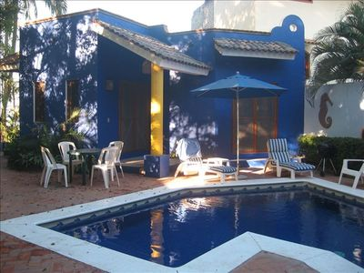 Dolce Vita I and Beautiful Blue pool. Very private pool area.