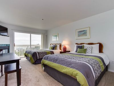 Photo for Upper-level studio with sweeping ocean views - dog-friendly!