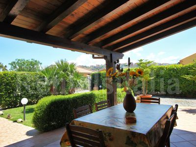 Photo for Villa with garden direct access to BEACH for SEA vacation in SICILY near CEFALU
