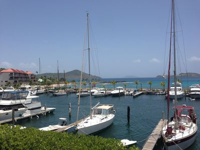 Another view...Sapphire Beach is just around the corner from the marina