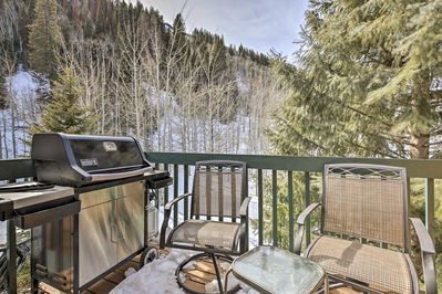 Mountain views and Pine meadows surround your alpine abode.