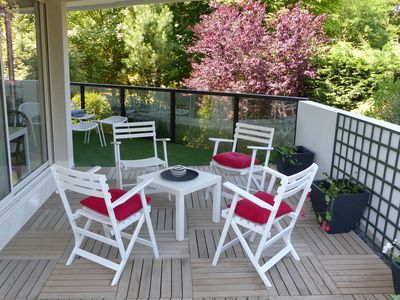 Photo for NEW: Large studio 2 pers. Wi-Fi - Terrace and garden. Benoît Beach 20 m