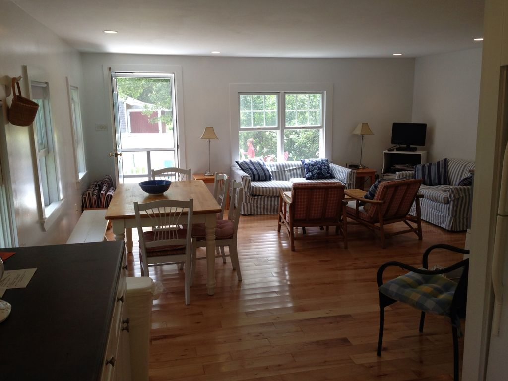Master Bedroom Kitchenette charming cottage - walk to beach and dock - homeaway kennebunk
