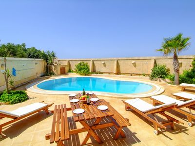 Photo for <div></div> Farmhouse Nera is a magical country villa offering dramatic sea views, a large private