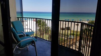 Photo for STUNNING GULF VIEW🐳,1BR&SofaBed,BALCONY,FREE WIFI,BEACH ACCESS, EASY PARKING!