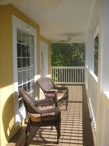 2nd floor porch....identical to the 1st floor porch