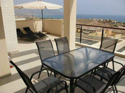 Photo for MH40: Modern 2 bed 1 bath apartment near beach, Mojon Hills, Isla Plana