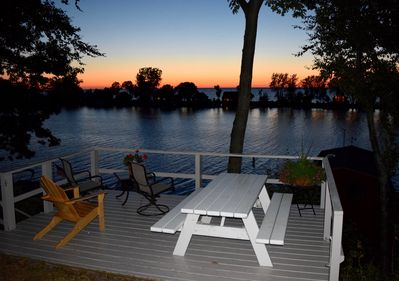 Enjoy the scenic sunset from the deck.