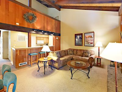 Photo for Updated 2BR + Loft Lakeland Village Condo w/ Fireplace, Pool & Private Beach