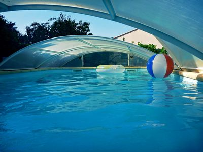 Photo for Apartment in a villa with pool (near St Tropez - Cannes - Nice)