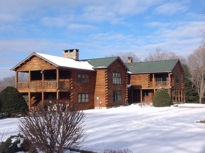 Photo for Elk Bed & Breakfast - beautiful log home with view of Elk Mountain Ski Resort