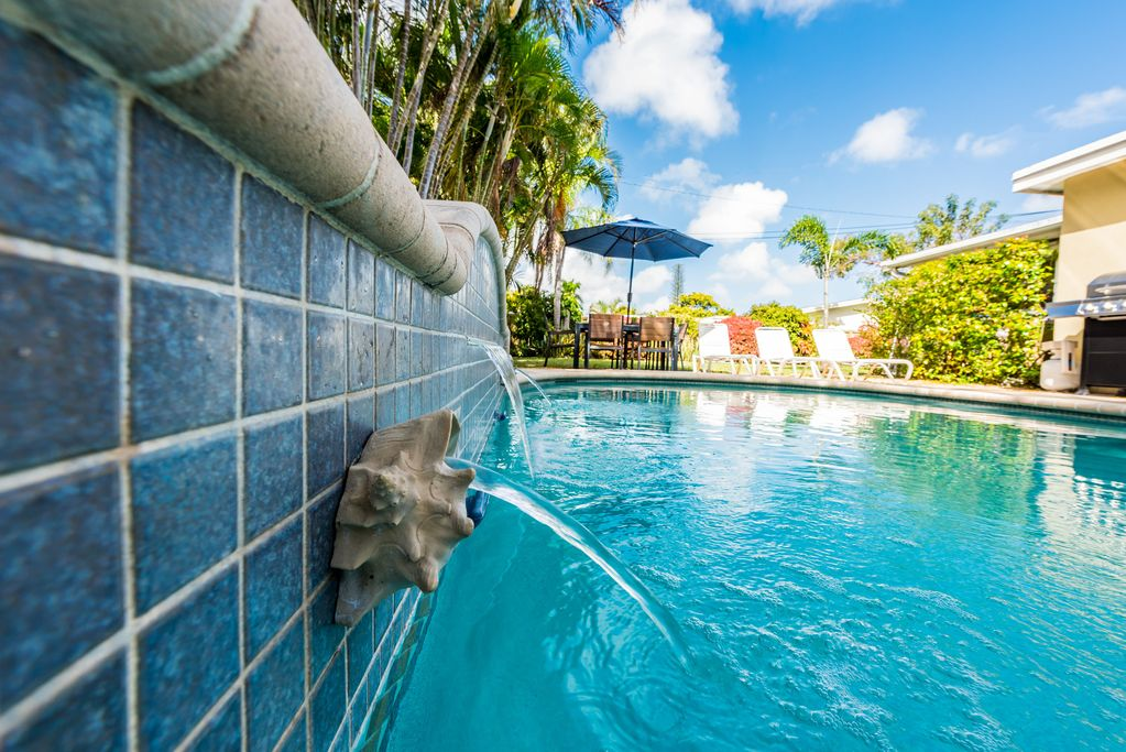 4/2 Zen Garden-Salt Heated- Pool -Near Beach- SPECIAL July $195 up to 6  persons - Wilton Manors