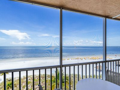 Photo for Smell the Salty Air! Beachfront Condo with Screened Lanai Near Times Square!