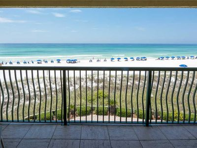 Photo for 302- REMODELED BEACH FRONT condo, come enjoy our beautiful sunsets! Destin Beach Club