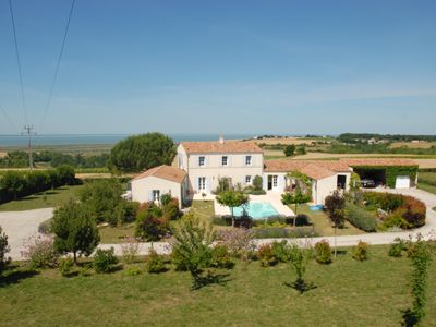 Photo for QUIET COUNTRY COTTAGE FOR 2. PRIVATE HEATED POOL.AMAZING SEA VIEWS.CLOSE BEACHES