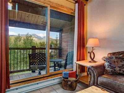 Photo for Stunning Breckenridge Mountain Views! Quick Walk to Lifts/Downtown! Pool, Hot Tub, Private Balcony!