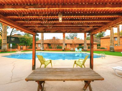 Photo for Tucson condo close to downtown with shared pool & free WiFi!