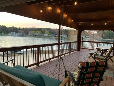 Photo for Lake House with HUGE yard and Private Beachfront on Upper Silver Lake!