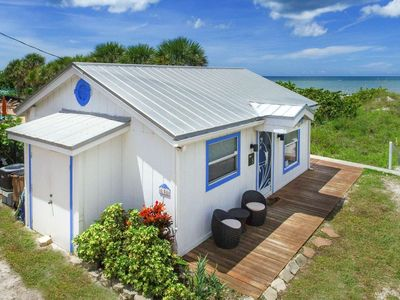 Photo for Binnie's Beachfront Bungalow-Cottage On Beach! Pet Friendly. Free Wi-Fi & Cable, Deck, W/D