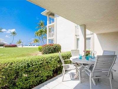 Photo for Ground floor Oceanview condo just steps to 7 Mile Beach and all Sunset Cove has to offer!