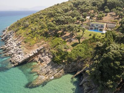 Photo for Dreamy villa by the sea side with heated pool
