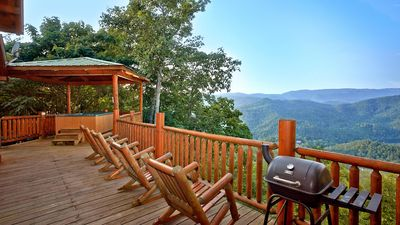 Photo for Stunning views from deck perfect for mountain lovers