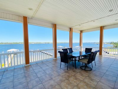 Photo for Beautiful waterfront duplex with boat dock close walk to beach pet friendly