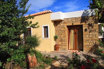 Villa next to the beach,Sfakaki,Rethymno,Exterior area and garden