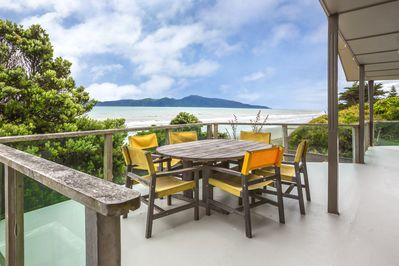 View from front deck towards Kapiti Island
