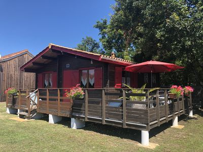 Photo for CHALET 43m2 air-conditioned Arcachon Bay