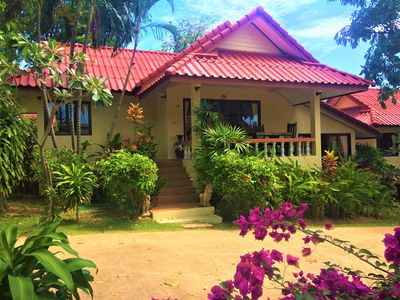 Photo for Charming 2 Bedroom Villa in a Tropical garden, easy walking access to the beach