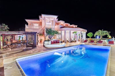 VILLA MONACO AT NIGHT
