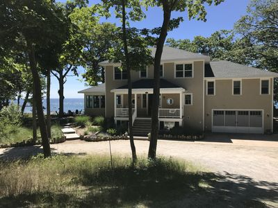 Photo for Large house on Lake Michigan with dramatic views.   Pier House sleeps 16 plus.