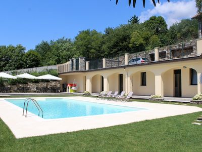 Photo for Oleandro 1 apartment in Mergozzo with pool