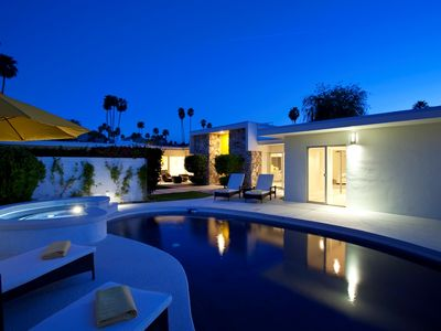 Photo for Striking Modern 3 Bedroom, 3 Bath Totally Private Hollywood Regency Pool Home