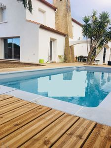 Photo for Villa sleeps 8 to whom he does not do anything! Pool, air conditioning, bikes, prox beach ...