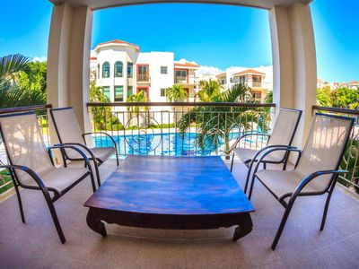 Photo for Great 2nd floor unit with panoramic views of the huge Pool
