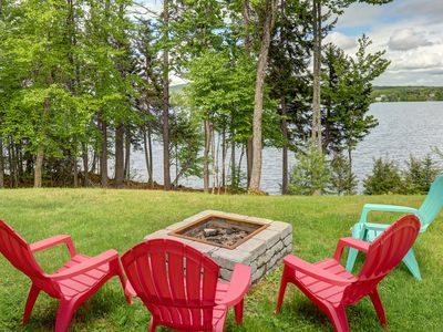 Photo for Lakefront, chalet-style home w/ large deck, a dock & beautiful lake views