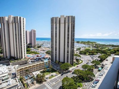Photo for Ala Moana Condo Ocean View Double Beds 30-15