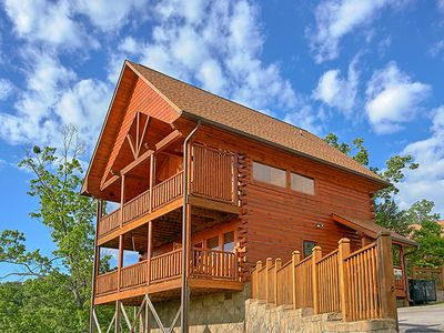 Photo for Find your Peace at Sweet Surrender Cabin | Mountain Views | WiFi | Game Loft | Hot Tub | Resort Pool